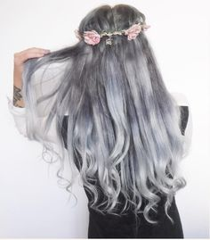 cool Ombre Hair Color Trends - Is The Silver #GrannyHair Style - Stylendesigns.com!