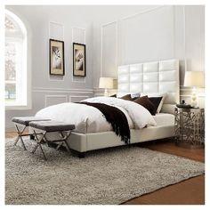 Inspire Q Gotham Platform Bed - White (Full)