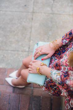 Rose quartz jewelry | Julie Vos | apinchoflovely.com