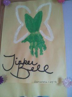 Tinker Bell hand print art