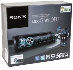 Sony MEX-GS610BT 1-DIN Bluetooth/MP3 Car Stereo Receiver +FREE CELL ANTENNA #Sony