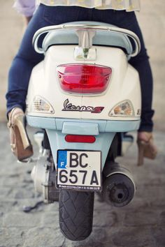 A vespa would be the most fun accessory  | Photo by Sarah Kate Photography via Style Me Pretty