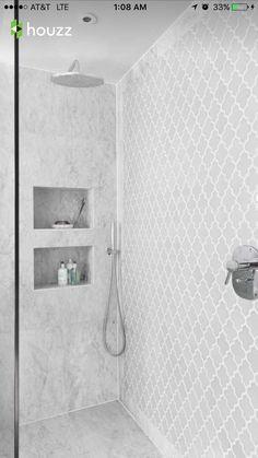 Bathroom Shower Tile Remodel Cubbies New Ideas Ensuite Bathrooms, Bathroom Renovations, Bathroom Showers, Small Bathrooms, Bathroom Vanities, Bathroom Tubs, White Bathrooms, Bathroom Cabinets, Small Bathroom Remodeling