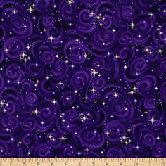 Stargazers Star Texture Violet Fabric By The Yard