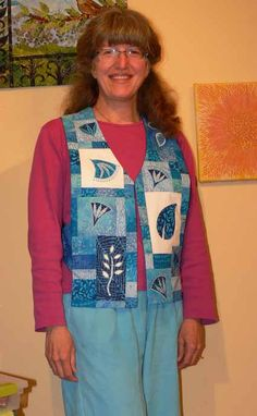 2010.06.blog.BlueVest001 Blue vest made with rectangles by Sarah Ann Smith
