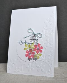 Stampin' Up ideas and supplies from Vicky at Crafting Clare's Paper Moments: It's Bloomin' Marvellous in a cage