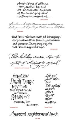 Handwriting Styles: VariousProjects by Iskra Johnson, via Behance