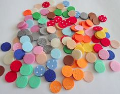 360 pcs 1 inch die cut felt circle,spring colours by DGNCY on Etsy