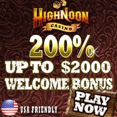 High Noon Casino offers players a no deposit bonus of $60!