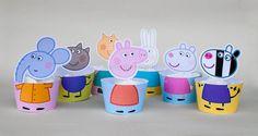 SALE PINKY PIG Cupcake Wrapper Set por IraJoJoBowtique en Etsy
