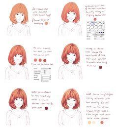 Hair coloring tutorial by Hiba-tan.deviantart.com on @DeviantArt