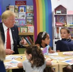 Trump Appears to Think American Flag Has Blue Stripe - Rubbish In, Robish Out!