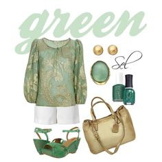 """golden green"" by selenitabr on Polyvore"