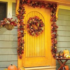 26' Harvest Wreath & Harvest Decor for your Home!