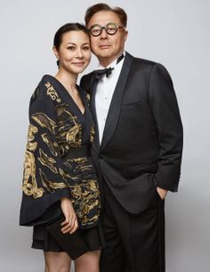Chow, art patron Michael, and his daughter China, in Emilio Pucci, came anyway.