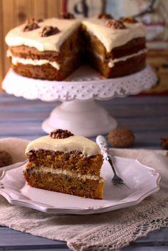 Spiced Walnut Carrot Cake Recipe