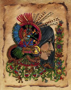 Ixcacao - Mayan Goddess of the Cacao tree and the chocolate that is made from the the fruit of that tree. The Goddess Of Chocolate? Oh, let me worship thee! Goddess Art, Goddess Of Love, Sacred Feminine, Divine Feminine, Wicca, Arte Latina, Burnt Paper, Aztec Art, Mesoamerican