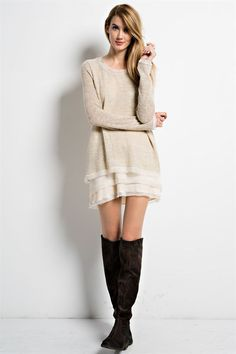 Layers Of Chiffon Sweater (2 colors available)