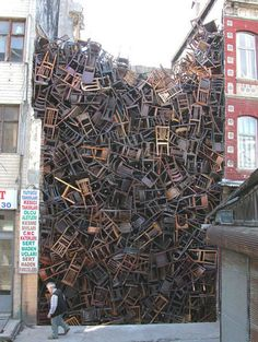 SOMEBODY has too much time on their hands... AND too many chairs!