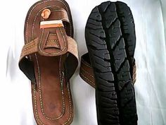 Kenya sandals-Recycled tire sandal of Africa(Canvas overlaid)U.S SIZE13,...