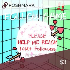 Help me reach 10K+ followers!! This is my first follow game‼️ 1⃣️Like this post‼️ 2⃣️Follow everyone who liked this post‼️ 3⃣️Share this post‼️ 4⃣️Check back for new followers‼ Other