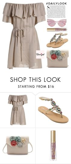 """ROSEGAL I / 26"" by anja-jovanovich ❤ liked on Polyvore featuring Too Faced Cosmetics, Fendi and Kershaw"