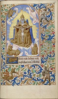 Book of Hours (use of Paris). (Gnadenstuhl translates from the German ...