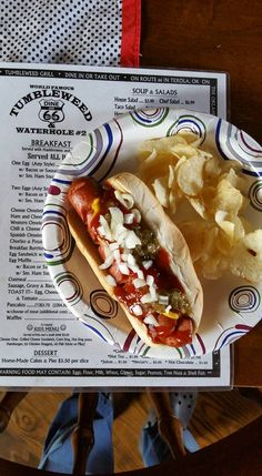 Bite into a savory hot dog topped with an even spread of mustard, ketchup, onions, relish and cheese at Tumbleweed Grill & Country Store. After you eat, be sure to roam through the gorgeous landscaped grounds of this Texola, Oklahoma Route 66 stop.