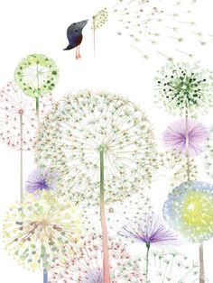 Masha D'yans: Dandelions bird