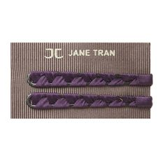 Ribbon Wrapped Bobby Pin Set - Purple. #Hair #Beauty #Brunette Visit Beauty.com for more.