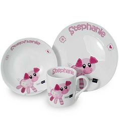 Cotton Zoo Organdie the Piglet Breakfast Set from CelebrationsPlus.com £29.99 with free delivery