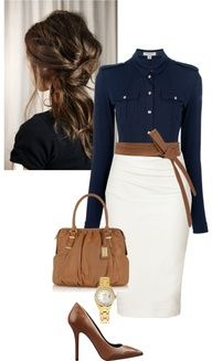 Navy Blue and Brown or tan and white