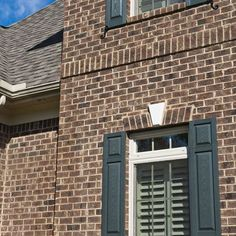 Brown Brick Homes White Trim Shutter Color Too Bing Images Shutters House