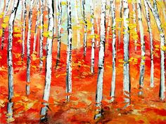 Oil painting abstract landscape original by SagittariusGallery, $175.00