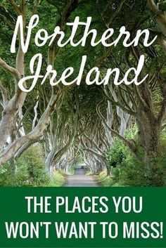 Planning a road trip in Northern Ireland? Here's a look at some of the places you won't want to miss including Giant's Causeway, Carrick-a-Rede Rope Bridge, the Dark Hedges, Dunluce Castle, Mussenden Temple, and the Gobbins Cliff Path. A Northern Ireland Travel Guide.