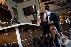 Engagement photos at the bar where we met?