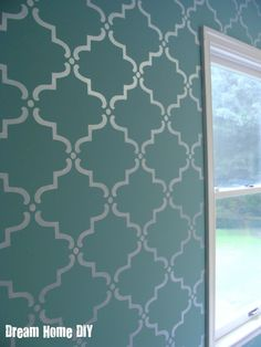 hip2thrift: How to make your own Moroccan stenciled wall