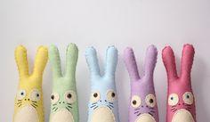 Felt Animal Plush Stuffed Bunny Rabbit, Cute Felt Stuffed Bunny Animal, Pastel Home Decor