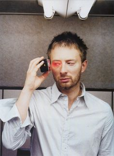 """oarv: """"Thom Yorke photographed in March two months after Radiohead's Kid A recording sessions began. Sound Of Music, Music Is Life, Radiohead Albums, Thom Yorke Radiohead, Piece Of Music, Rock Legends, Music Film, Music Lessons, My Favorite Music"""
