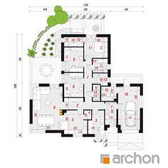Dom w galach (G) Dormer Bungalow, Sweet Home, New Homes, Floor Plans, Diagram, House Design, Home Decor, Dream Houses, Montana