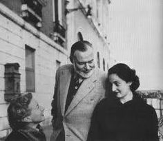 Mary, Ernest, and Adriana Ivancich - a young woman in whom Ernest took a very keen - very romantic - interest.