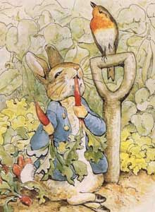 °easter in blue° Peter Rabbit in Mr. McGregor's Garden by Beatrix Potter