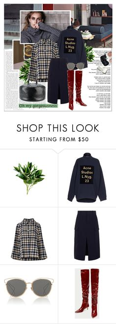 """Fall Street Style"" by stylemeup-649 ❤ liked on Polyvore featuring INC International Concepts, Impossible Project, Acne Studios, Draper James, Chloé, Christian Dior and Balenciaga"