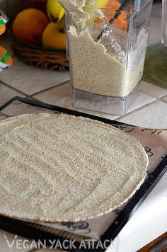 Raw Quesadilla with Flaxseed Tortilla