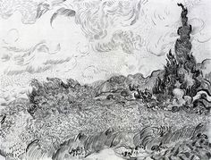 Pen & Ink drawing by Vincent Van Gogh