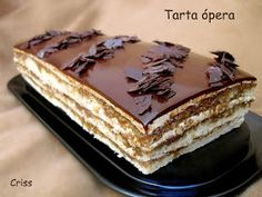 ALIMENTA: TARTA ÓPERA PASO A PASO Mexican Food Recipes, Sweet Recipes, Cake Recipes, Dessert Recipes, Delicious Deserts, Yummy Food, Opera Cake, Spanish Desserts, Pie Cake