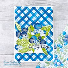21 Cards, Your Cards, Global Design, Project Yourself, Starter Kit, Stampin Up Cards, Paper Design, Blue Flowers, Berries