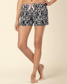 Soma Embraceable Pajama Short in Era Knit Shorts, Pajama Shorts, Satin Bows, Sleepover, Pajamas, Beauty, Style, Fashion, Pjs