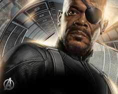 Nick Fury played by a fantastic Samuel L Jackson Nick Fury, Marvel Comic Universe, Marvel Cinematic Universe, Best Superhero Movies, Mace Windu, Den Of Geek, Avengers Pictures, Avengers Wallpaper, Movie Photo