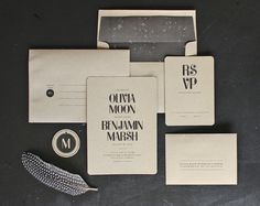 Modern Kraft Wedding Invitation by oakandorchid on Etsy - Absolutely love this one